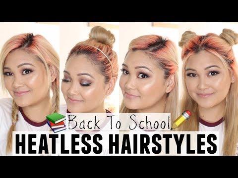 4 Back To School Heatless Hairstyles