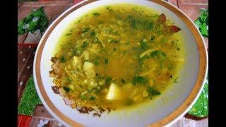 Крапивный суп или суп из крапивы. Летнее блюдо.