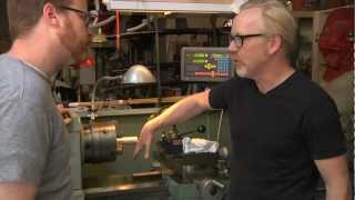 Inside Adam Savages Cave Metal Lathe with Digital Readout