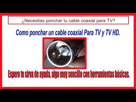 Como instalar conectores a un cable coaxial para tv cable