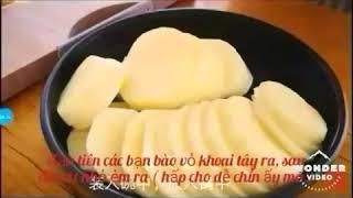 Học cách làm bánh khoai tây nhân phô mai thơm ngon nè mọi người