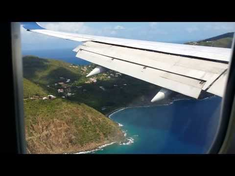 LANDING IN ST THOMAS US VIRGIN ISLANDS