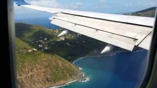 LANDING IN ST THOMAS US VIRGIN ISLANDS