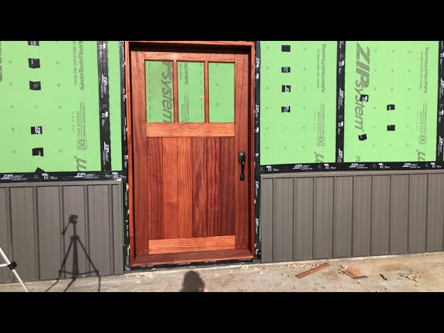 Historic Guest Barn Renovation - Episode 15 Making the Sapele Front Entry Door