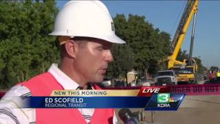 Pedestrian Bridge Put Into Place At Cosumnes Construction Project