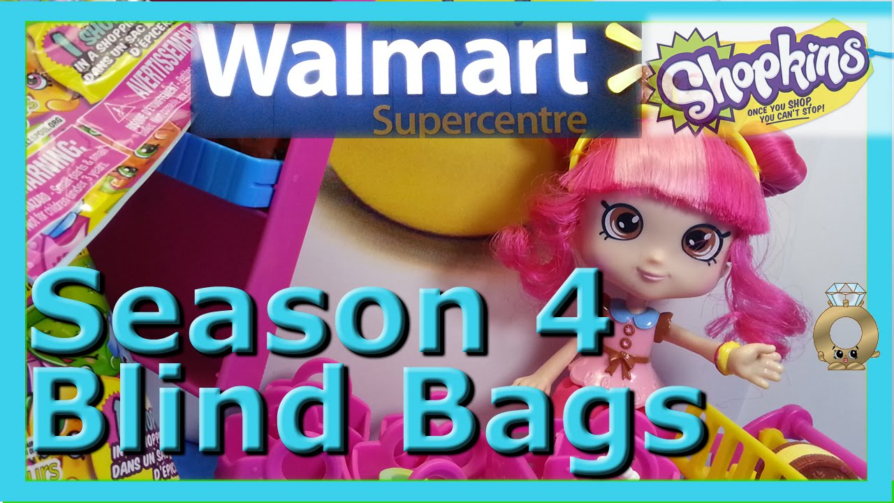 Shopkin Videos Season 4 Blind Bags Moose Toys Shoppies Walmart Cookie Swirl C Inspired Youtube