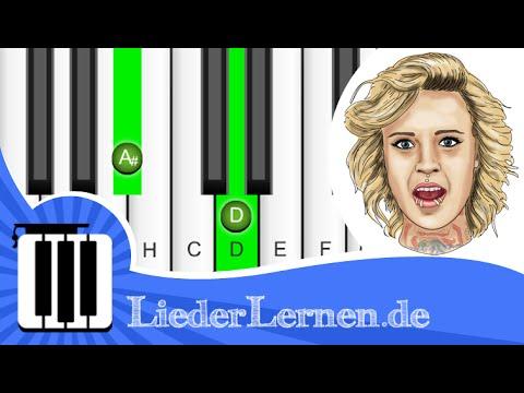 Jennifer Rostock - Irgendwo Anders - Klavier lernen - Musiknoten - Akkorde