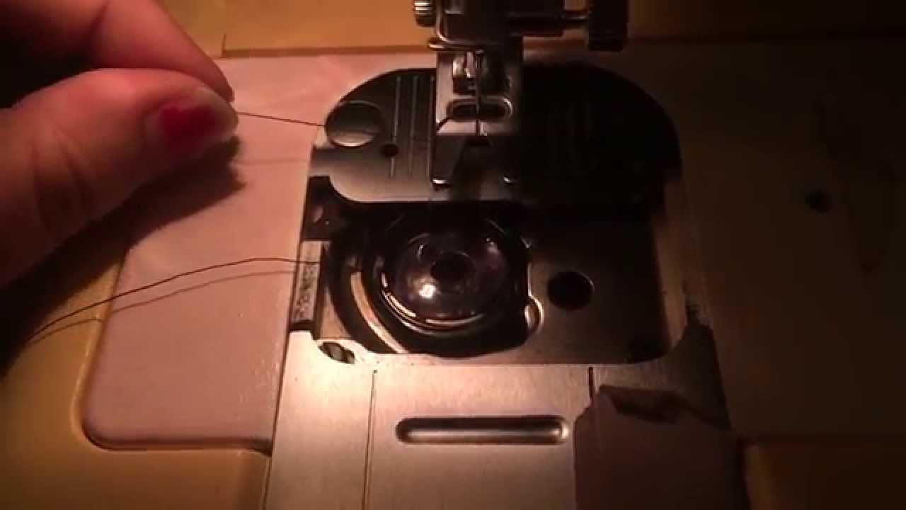 how to put thread in a bobbin
