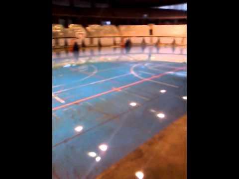 Inundación en el Palacio Municipal de Deportes de Jerez