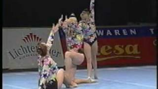 Acrobatic Gymnastics - 2002 Worlds - Russia - Women group combined (Gold)
