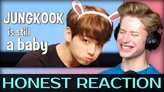 HONEST REACTION to Jungkook is still a baby... #HappyJungkookDay