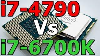 gaming performance i7 4790 4 0ghz vs i7 6700k 4 0ghz haswell skylake