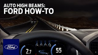 homepage tile video photo for Auto High Beams   Ford How-To   Ford