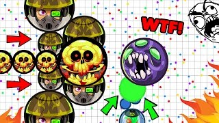 """Agar.io - First """"DOUBLE-CANNON-TRICKSPLIT'' - Best TRICK Moments"""