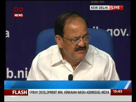 Urban Development Min Venkaiah Naidu addresses media on 3 Years' achievements of 3 Ministries