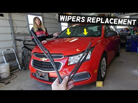 HOW TO REPLACE WINDSHIELD WIPERS ON CHEVROLET CRUZE SONIC