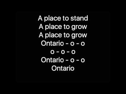 A Place to Stand Ontario 150 Song