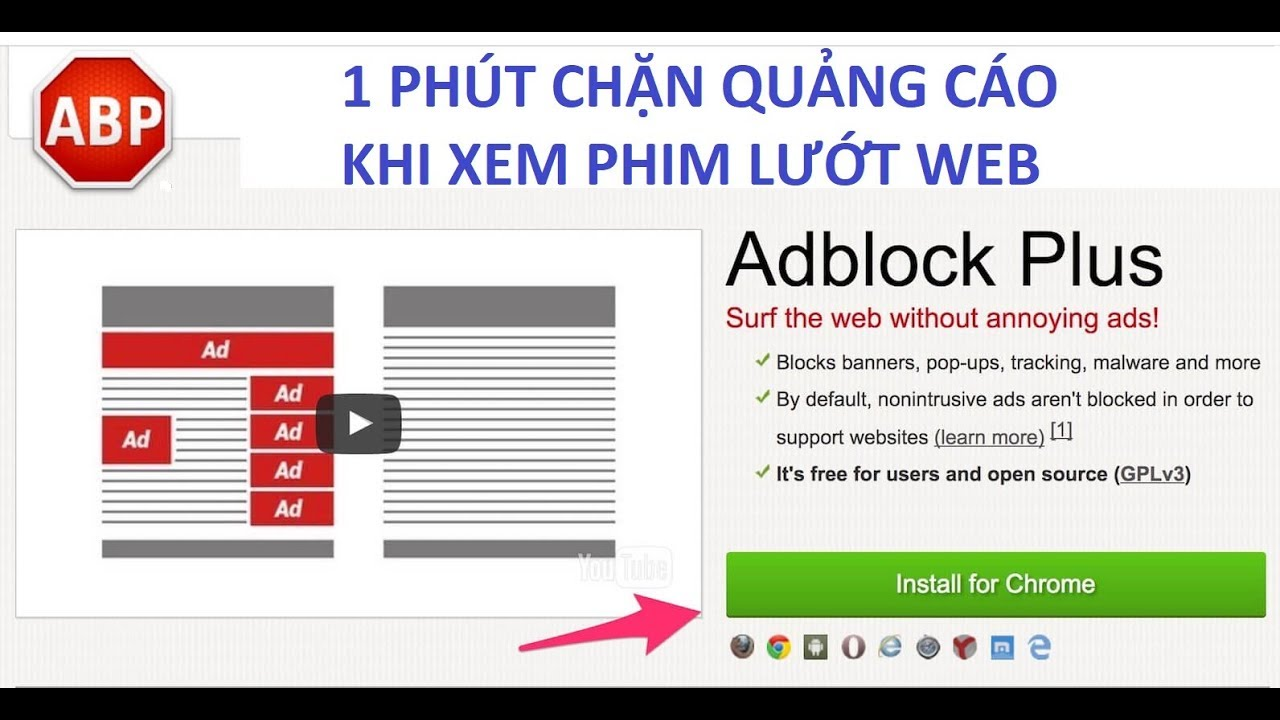 1 Phút Chặn Quảng Cáo Khi Xem Phim Lướt Web