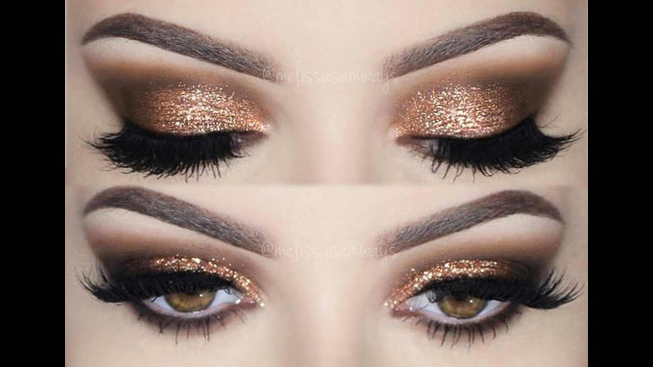 Prom Make Up Tutorial Smokey Eyes And Glitter Melissa