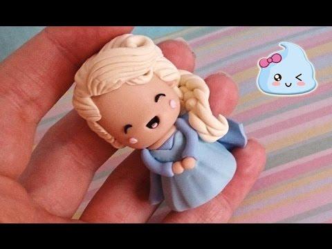 Elsa De Frozen Kawaii Tutorial Em Biscuit Por Regiane