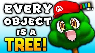 Is it Possible to Beat Super Mario 64 if Every Object is a TREE? [TetraBitGaming]