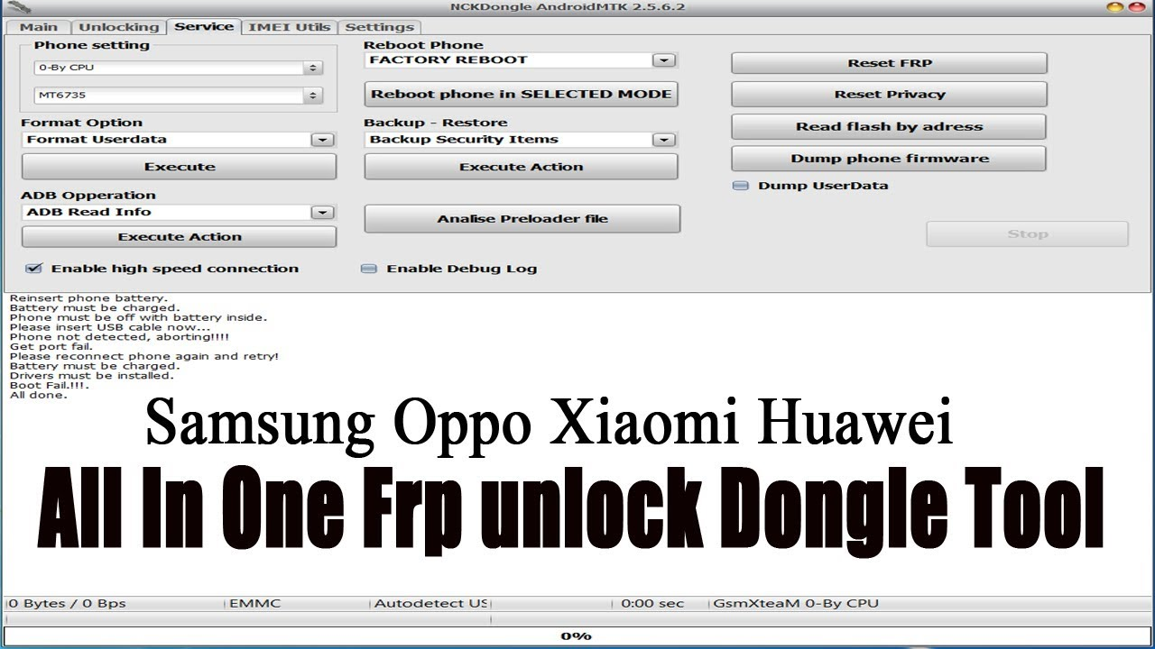 Samsung Oppo Xiaomi Huawei | All In One Frp unlock Dongle Tool