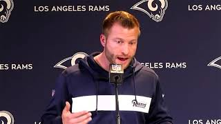 "RAW: Rams coach Sean McVay jokes he ""didn't realize how many friends"" he had in Atlanta"