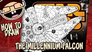 How to Draw THE MILLENNIUM FALCON (Star Wars) | Narrated Easy Step-by-Step Tutorial