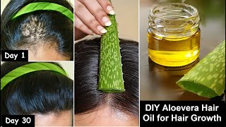 She turned her Thin hair to Thick hair in 30 Days - Aloevera Hair oil for Hair Growth &amp Long hair