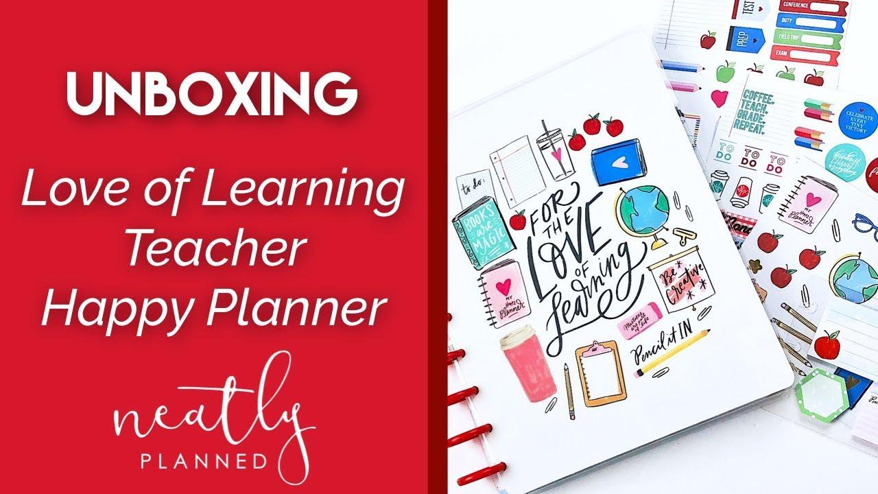 NEW Love of Learning 2018-2019 Teacher Happy Planner