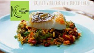 Halibut with Chorizo & Broccoli