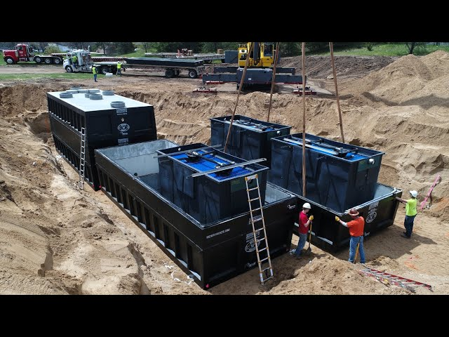 Menards Wastewater Treatment System by Wieser Concrete