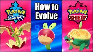 POKEMON SWORD AND SHIELD - How to Evolve Applin (Evolving Applin to Appletun & Flapple)
