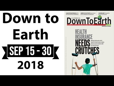 Down to Earth magazine 2018 analysis September 15-30 for Geography optional UPSC 2019 mains