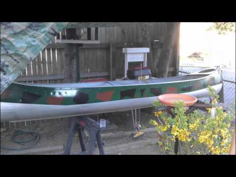 Canoe restoration.