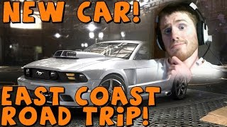 THE CREW | Beta | East Coast Road Trip, New Car and Game Crash