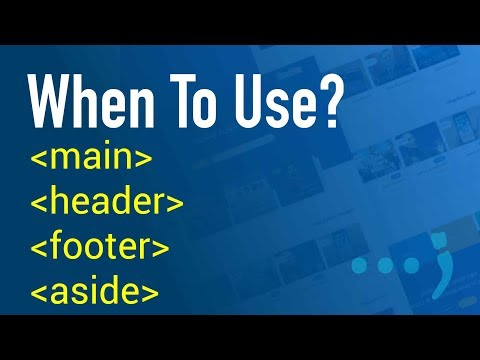 When to use main, header, footer and aside html tags