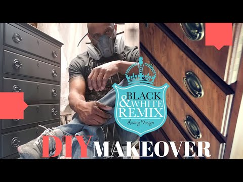 DIY makeover of a 45 yr old chest dresser (Complete in 4 hrs) 2019