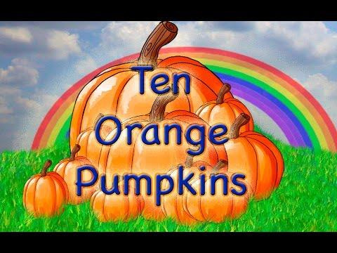 Halloween Preschool Song  10 Orange Pumpkins  LittleStoryBug