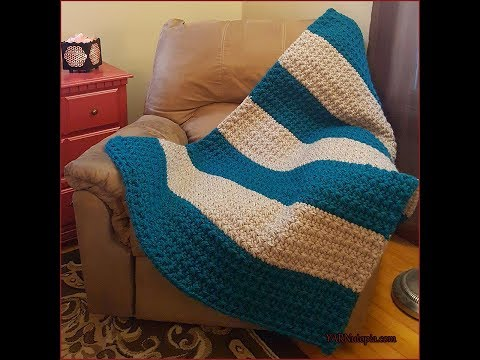 Crochet Tutorial: Star Stitches and Stripes Chunky Blanket