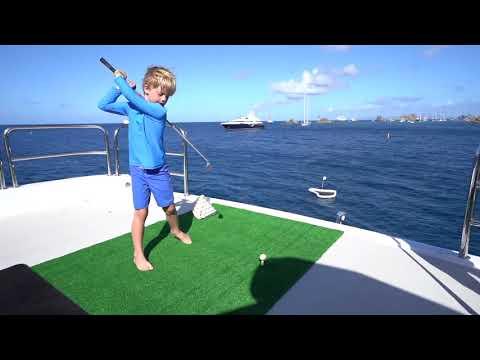 Yacht golf rental - golfing on MY LOON