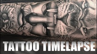 TATTOO TIMELAPSE | GREEK GOD HERCULES | CHRISSY LEE