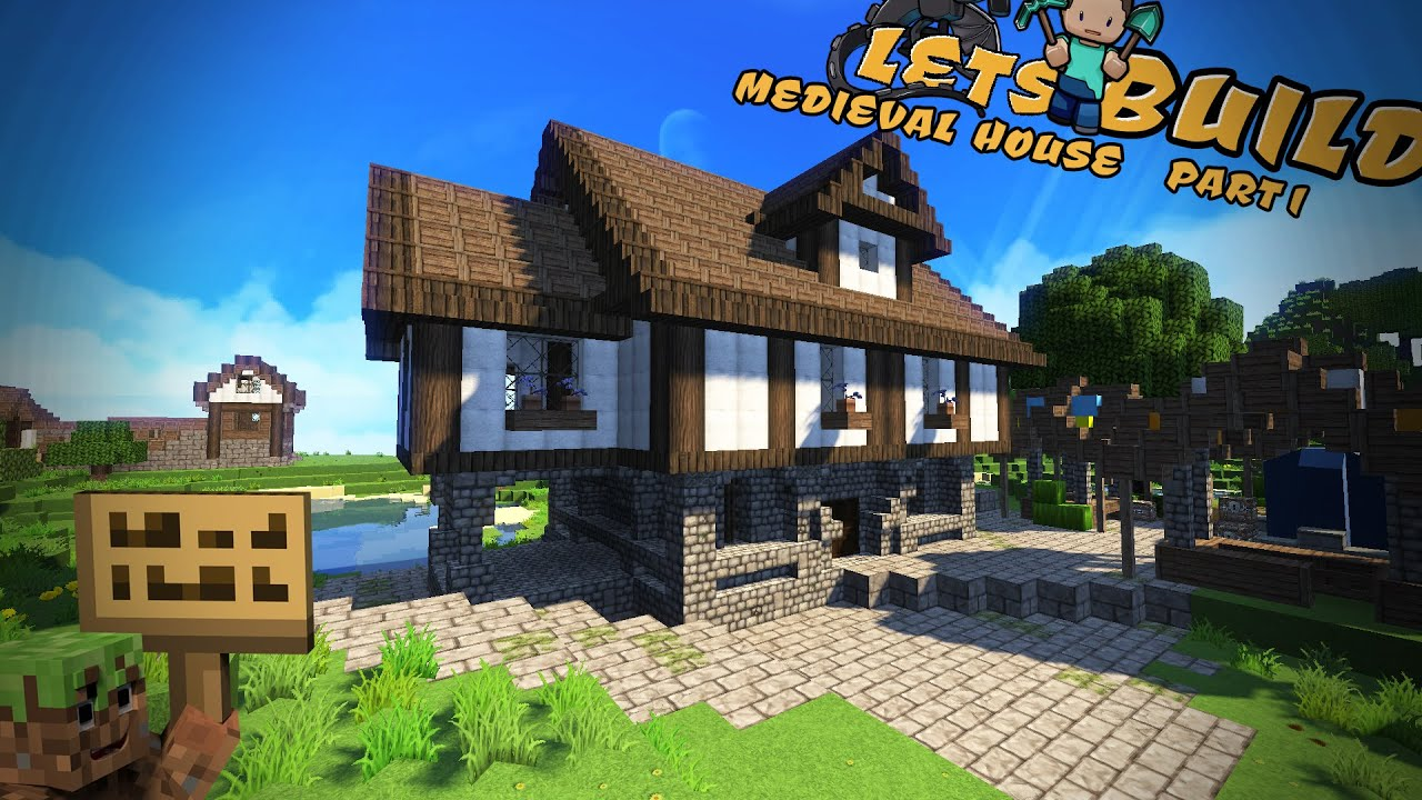 Mittelalterliches Haus Minecraft Tutorial Part German YouTube - Minecraft mittelalter haus bauen german