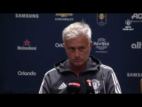 Jose Mourinho, Fosu Mensah, Pre Match Press Conference Manchester United vs Real Madrid