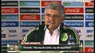 Presentación del Tuca Ferreti como DT  de la selección mexicana
