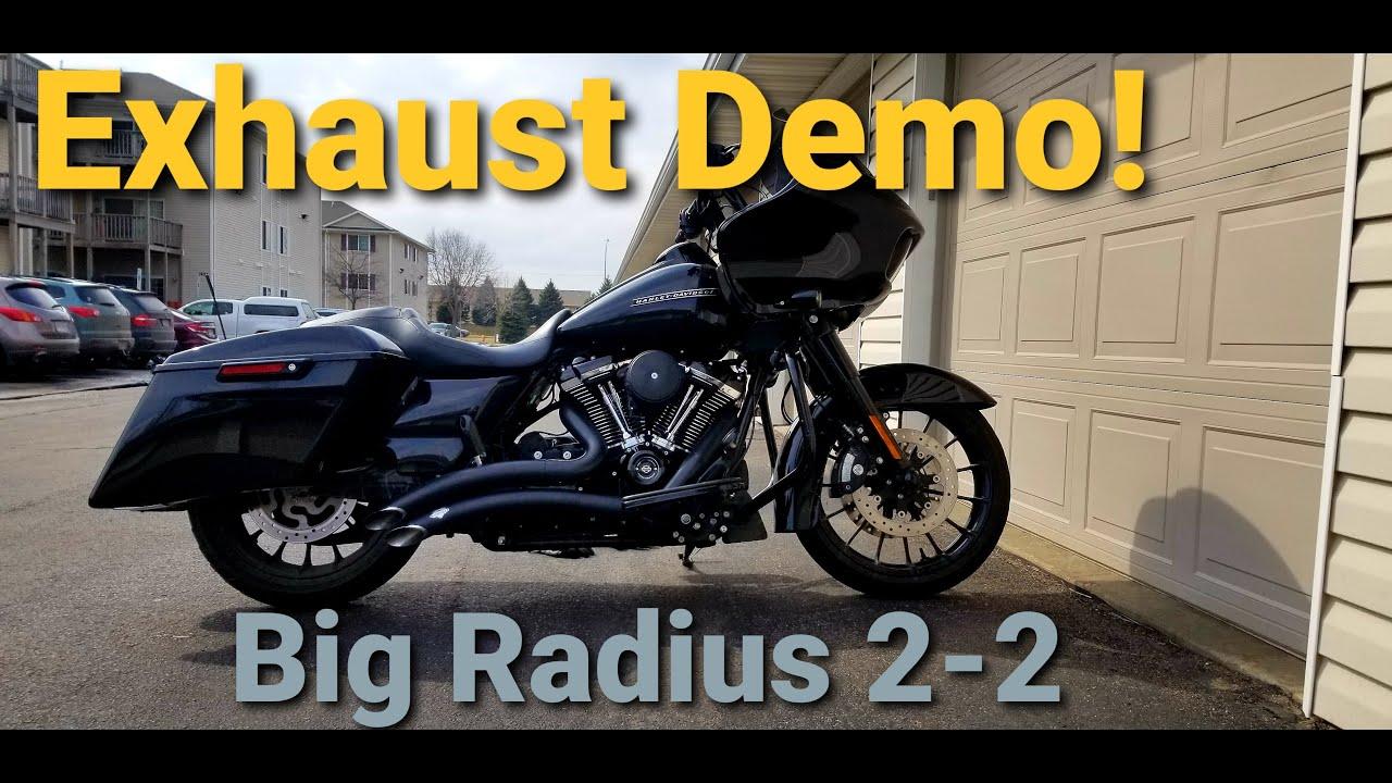 vance and hines big radius 2 into 2 exhaust demo road glide
