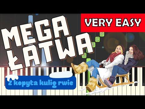 🎹 Z kopyta kulig rwie - Piano Tutorial (MEGA ŁATWA wersja) 🎹