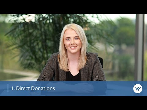 5 Ways to Start Giving to Charity   1. Direct Donations