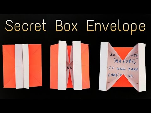 "How to make a  ""Secret Box Envelope ✉ "" using A4 paper- Useful Origami tutorial"