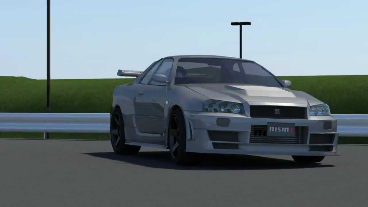 Nissan R34 Gtr Nismo Z Tune 3d Animation Youtube